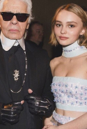 Karl Lagerfeld and Lily- Rose Depp