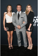 Sylvester Stallone and daughters Sistine and Sophia Stallone