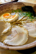 Gumshara Ramen, CBD: Gumshara Ramen is another undercover Chinatown gem. With MSG off the menu, the tonkatsu contains only the good ingredients in its thick-style pork broth. Punchy pickled ginger take this to the next level.