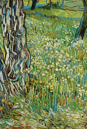 Vincent van Gogh, Tree trunks in the grass late April 1890 Saint-Rémy oil on canvas 72.5 x 91.5 cm Kröller-Müller Museum, Otterlo © Collection Kröller-Müller Museum, Otterlo, the Netherlands