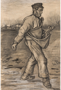 Vincent van Gogh, The sower December 1882 The Hague pencil, brush and ink, watercolour 61.3 x 39.8 cm P. and N. de Boer Foundation, Amsterdam