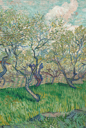 Vincent van Gogh, Orchard in blossom April 1889 Arles oil on canvas 73.2 x 93.1 cm Van Gogh Museum, Amsterdam (Vincent van Gogh Foundation)
