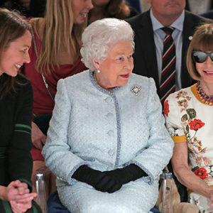 The Queen sitting FROW is the best moment of London Fashion Week