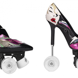 Chic skate: Saint Laurent's new stiletto roller-skates