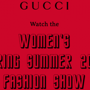 Live stream: watch the Gucci S/S '17 show