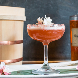Saké just dropped a cherry blossom cocktail bomb for Spring