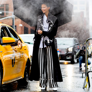 Street style at NYFW: Don't rain on my parade