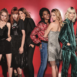 Meet Topshop's cool new Xmas girl gang