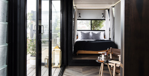Island luxe: an adults-only hotel in a shipping container