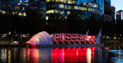 A fluoro floating bar just opened on the Yarra