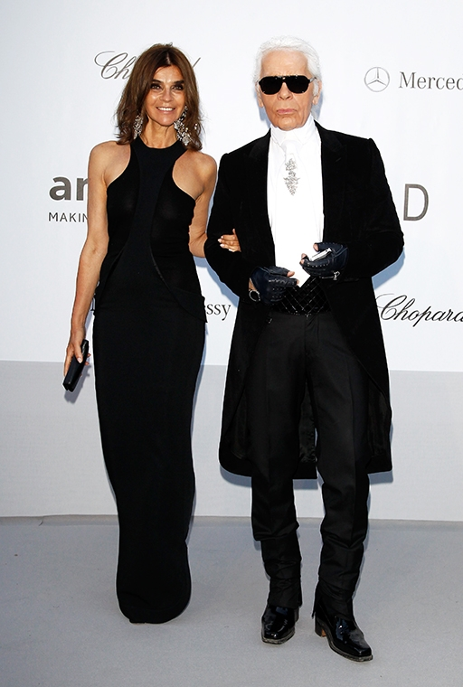 Carine Roitfeld and Karl Lagerfeld