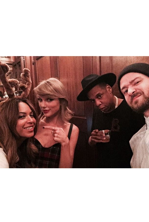Beyonce, Taylor Swift, Justin Timberlake and Jay-Z