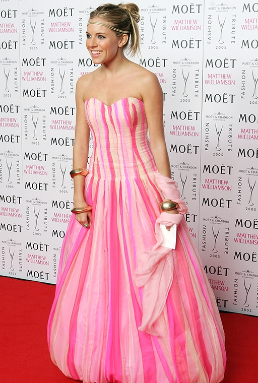 Moet & Chandon Fashion Tribute award, February 2005