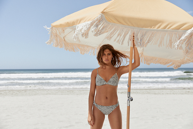 15. Favourite piece from the Roxy collection/campaign: the polka dot bikini. I wear it with a linen wrap skirt and a straw hat.