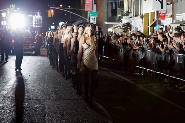 Alexander Wang's show, #wangfest was held on Saturday night on the streets of Manhattan and Bushwick