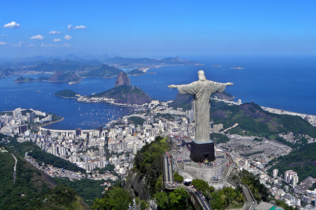 10. Corcovado, Brazil. We guess that giant statue of Christ really gets your blood pumping, huh?