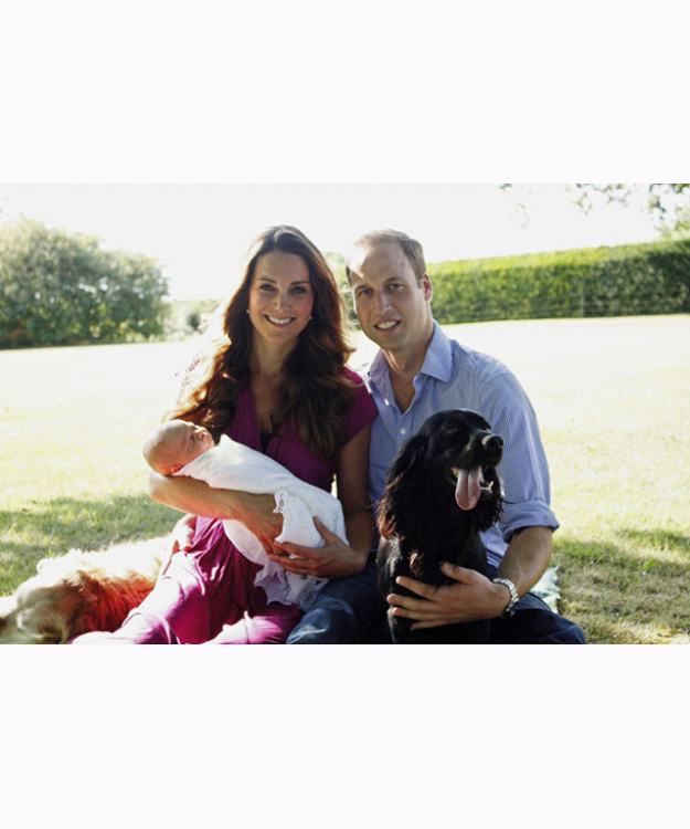 The Duke and Duchess of Cambridge and Prince George
