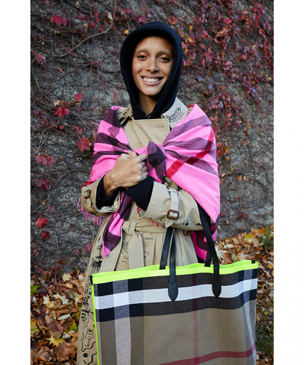 Adwoa Aboah for Burberry captured by Juergen Teller