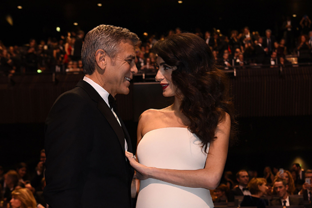 "2.	In true Clooney form, George's publicist released this amusing statement. ""This morning Amal and George welcomed Ella and Alexander Clooney into their lives. Ella, Alexander and Amal are all healthy, happy and doing fine. George is sedated and should recover in a few days."""