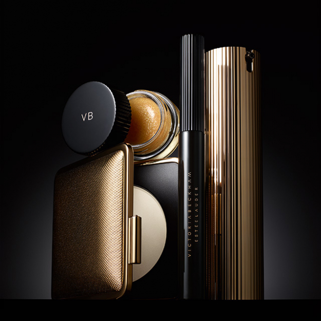 The hero collection, including Morning Aura Illuminating Creme, Skin Perfecting Powder, Aura Gloss in Honey and Eye Ink Mascara in Blackest