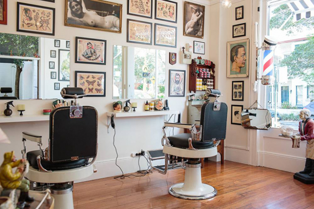 Happy Sailor's Barbershop - Decked out with traditional red, blue and white barber's poles and with a soundtrack of old saloon music playing, this delightfully simple barbershop, offering only a haircut and a buzzcut, will have you swingin' back to the 50s. Owned and operated by Nathan Meers, who has over 15 years' experience in Sydney and London. 748 Bourke Street, Redfern www.thehappysailorsbarbershop.com.au