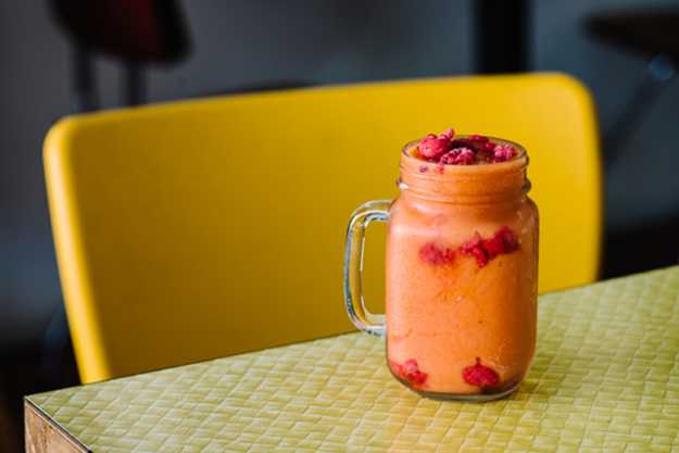 3.	Warrior smoothie at Sadhana Kitchen (Newtown). There's nothing like a refreshing vitamin-packed smoothie to give you the zest of life again. Sadhana Kitchen has a sugar free, dairy free, wheat free, guilt free menu, that is perfect for when you're feeling guilty enough.