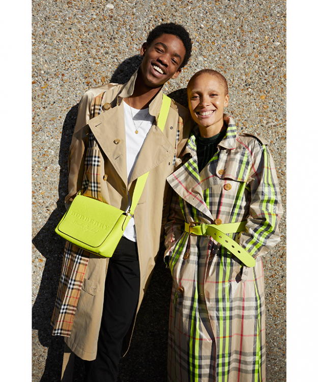 Adwoa Aboah and Montell Martin for Burberry captured by Juergen Teller