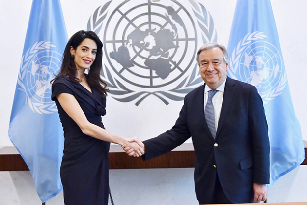 "3.	Amal, who was possibly the world's most chic pregnant woman ever, stayed quiet about her due date. But last week, we were given a clue that the delivery was imminent after George failed to show up to a humanitarian event. He told the crowd via video link that if he missed the birth, ""I could never come home""."