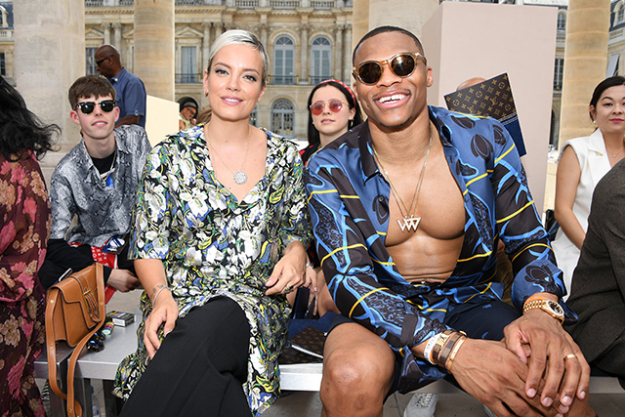 Lily Allen and basketball player Russell Westbrook