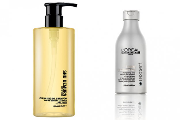 "COLOUR MAINTENANCE. An ash, iridescent platinum (like L'oreal Classic Blonde 10/1/2 toner) will need at-home upkeep to maintain colour and specialty shampoo and balm for blondes to control yellow-toned brassiness.<p><a style=""font-size: 17px;"" href=""https://www.adorebeauty.com.au/shu-uemura-cleansing-oil-shampoo-gentle-radiance.html"">Shu Uemura Art Of Hair Cleansing Oil Shampoo Gentle Radiance</a>, $68<span style=""font-size: 17px;"">&nbsp;and&nbsp;</span><a style=""font-size: 17px;"" href=""http://www.adorebeauty.com.au/serie-expert-silver-shampoo-250ml.html"">L'Or&eacute;al Professionnel S&eacute;rie Expert Silver Shampoo</a>, $26</p>