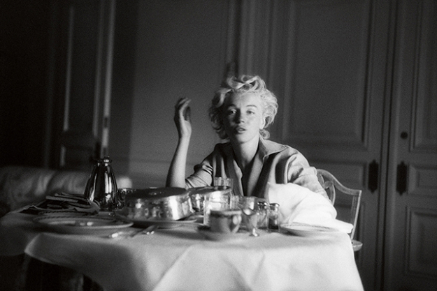 "Hotel room candid, September 1954.<p><span style=""font-size: 17px;"">(Photo: Milton H. Greene &copy; 2017 Joshua Greene. From The Essential Marilyn Monroe. Photograph by Milton H. Greene.)</span></p>