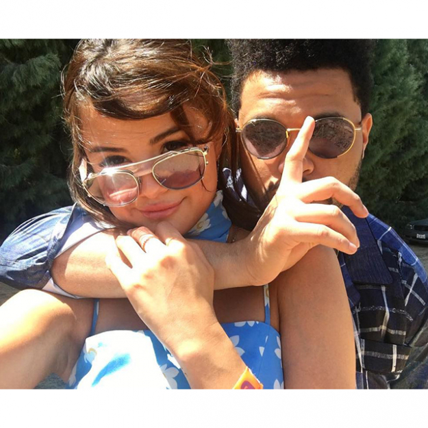 Oh hey, whaddya know, it's Selena and The Weeknd again, way back in April… We believe this was their first Insta-official post together.
