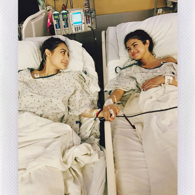 Number 3 was Selena's sweet hospital post about her friend Francia Rasia'a kidney donation. It garnered 10.3 million likes.