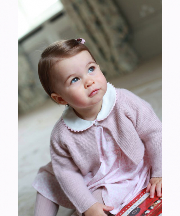 Princess Charlotte official 1st birthday portrait