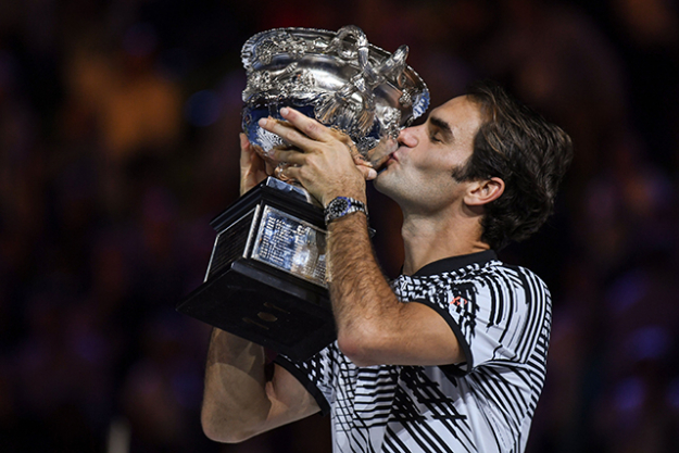 Federer's 2017 Australian Open win makes him the second oldest tennis player in history to win a major singles title. He follows Aussie Ken Rosewall who won the Australian Open at 37.