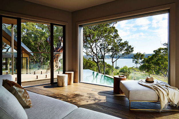 "Where: Broken Bay, 90 minutes north of Sydney by car.  Rate:  from $2,000 per night, but if you book via Mr and Mrs Smith you'll receive a welcome glass of French Champagne on arrival.<p><a style=""font-size: 17px;"" href=""https://www.mrandmrssmith.com/luxury-hotels/pretty-beach-house"">mrandmrssmith.com</a></p>