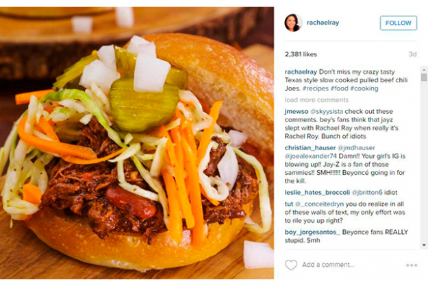 So they trolled her Instagram recipe for Texas style slow cooked pulled beef chili Joes.