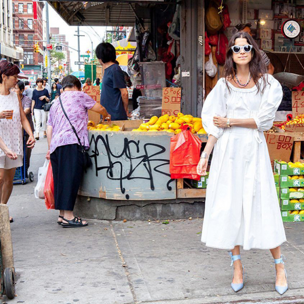 "7.	Who: Leandra Medine. What: MR by Man Repeller<p><span style=""font-size: 17px;"">Where: </span><a style=""font-size: 17px;"" href=""https://www.instagram.com/manrepeller/"">@manrepeller</a><span style=""font-size: 17px;""> and </span><a style=""font-size: 17px;"" href=""https://www.net-a-porter.com/us/en/Shop/Designers/MR_by_Man_Repeller?pn=1&amp;npp=60&amp;image_view=product&amp;dScroll=0"">Net-a-Porter.com</a></p>