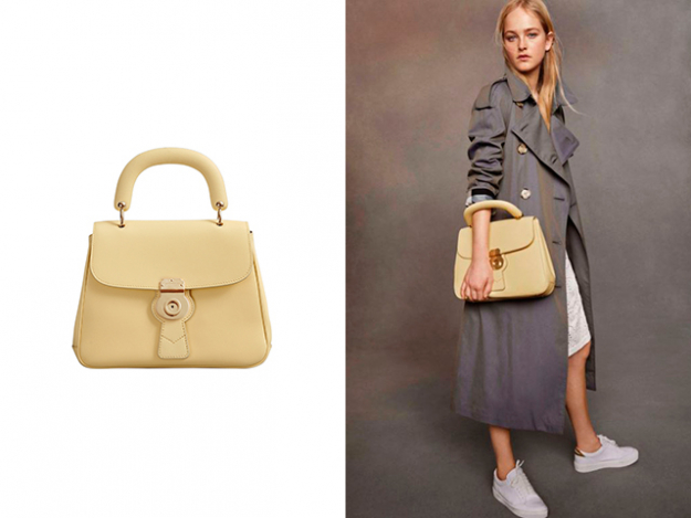 The Medium DK88 Top Handle Bag and Tropical Gabardine Trench Coat