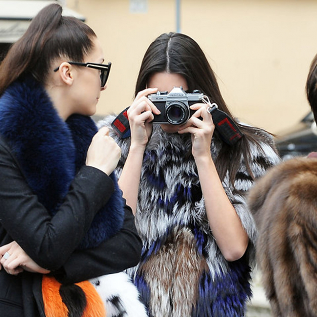 Kendall snapping away in Rome