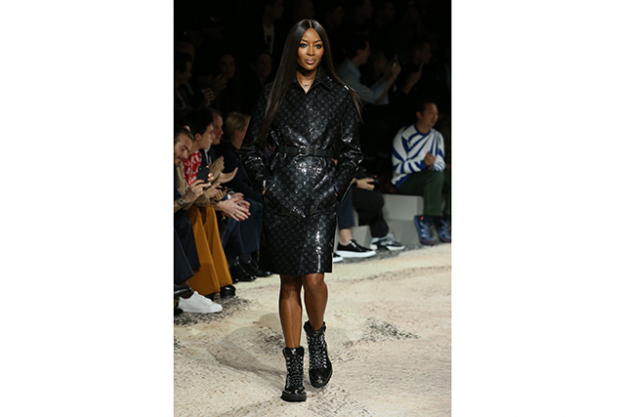 Naomi Campbell at Louis Vuitton Homme A/W'18