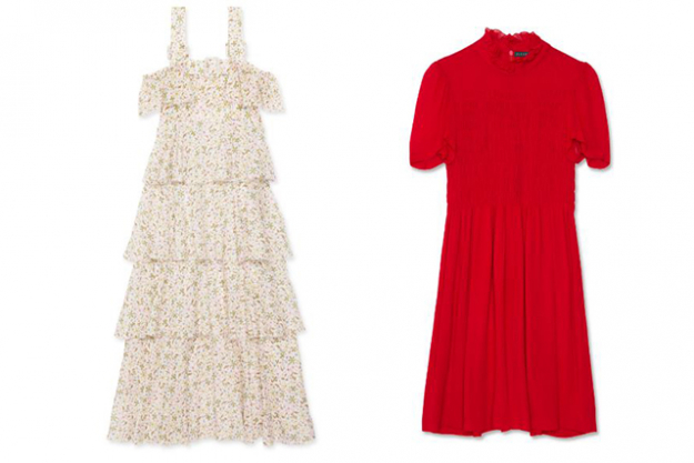 Alexachung tiered garden dress $785, Alexachung smocked dress $685