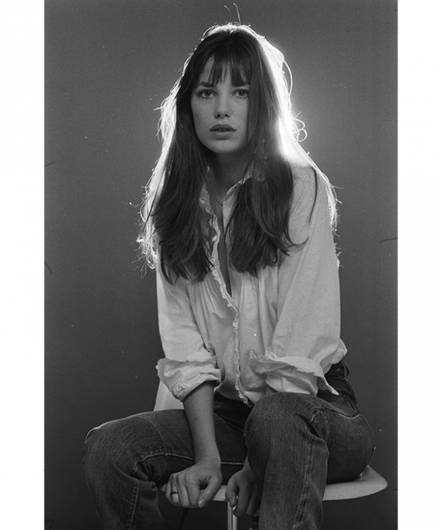 "On Jane Birkin: ""Jane Birkin… so cool, effortless rock chic glamour. She got everything right and she set the trend for mannish tailoring and the androgyny concept. She owned denim flare and created the 1970's iconic style of Parisian boyish looks and off-duty dressing. She made casual dressing look impeccable and effortless."""