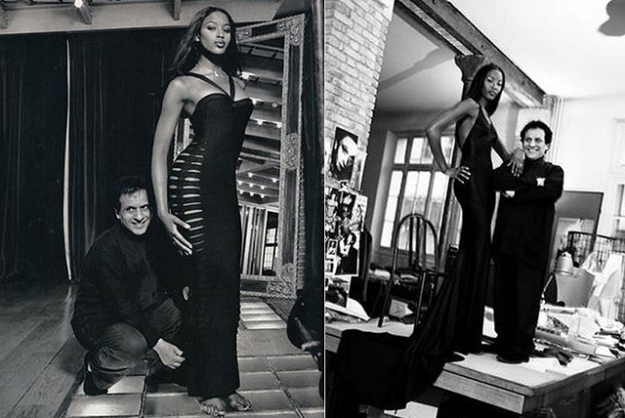 Naomi Campbell wearing and with Alaïa (images: www.alaia.fr)
