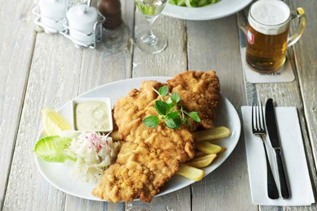Bavarian Bier Café:  Beer and turkey seem an unlikely pairing but it totally works. Spend Christmas Day with an artisanal beer in one hand and a turkey schnitzel in the other at the Bavarian Bier Café Bondi or Manly.