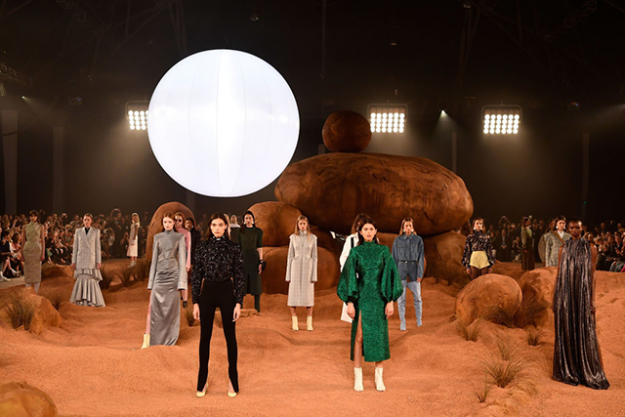 The most far out runway design was courtesy of Camilla and Marc's Mars set complete with a large hanging 'moon'.