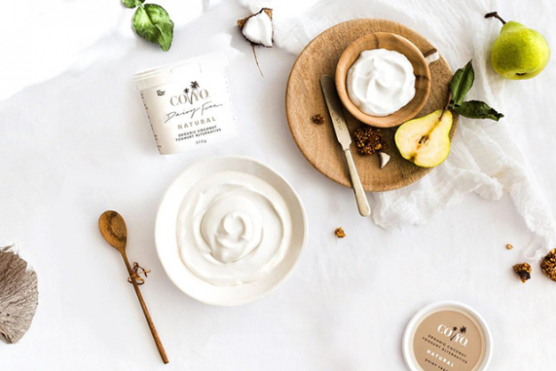 Swapping supermarket sugar-packed ice cream for dairy-free coconut ice-cream. Coyo contains chicory root and guar gum - both prebiotics! (image: coyo.com/au)