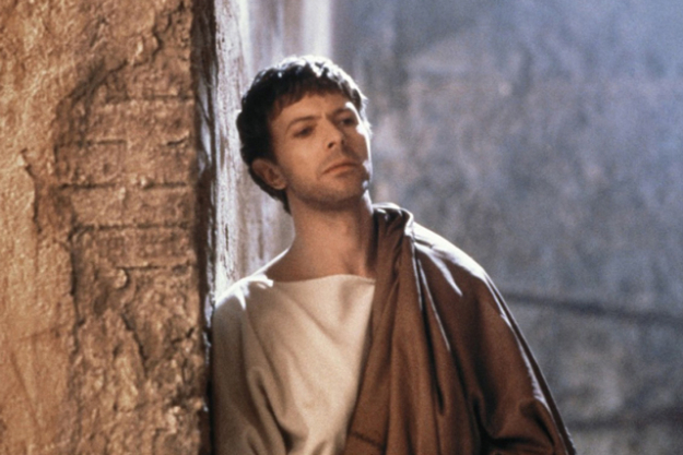 Taking the role of Pontious Pilate in 'The Last Temptation of Christ' in 1988.