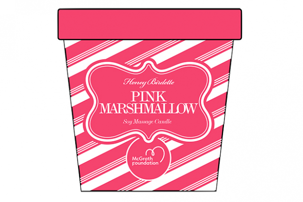 "For a sweetly scented house, lifestyle brand Honey Birdette are doing a limited-edition Pink Marshmallow Candle, 100 per cent of the sale proceeds will be donated to the McGrath Foundation. Available from:<p><a href=""http://www.honeybirdette.com/"">honeybirdette.com</a>&nbsp;</p>"