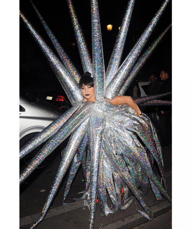 Lady Gaga has been a Halloween pin-up for years - the meat dress kicked off all the fun and she just keeps on giving. This inflatable spiked number looks tricky to pull off but ably acts as a repellent to any ghoulish lurkers looking for small talk.